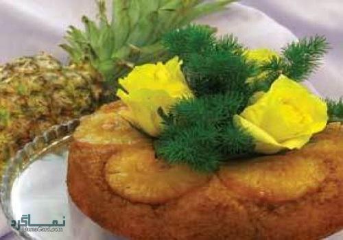 مراحل روش پخت کیک آناناس لذیذ + فیلم آموزشی