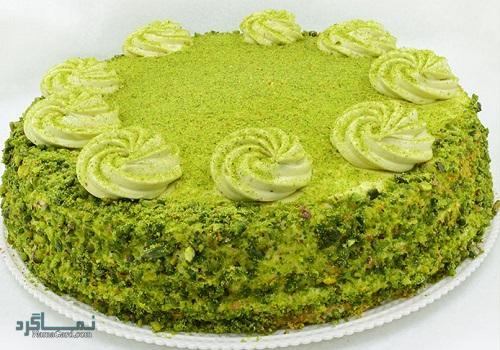کیک پسته | طرز تهیه کیک پسته ساده + فیلم آموزشی