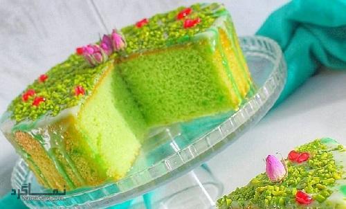 طرز تهیه کیک پسته خوش طعم + فیلم آموزشی
