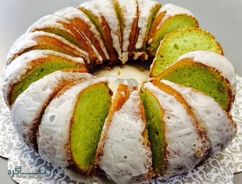 کیک پسته خوش طعم + تزیین