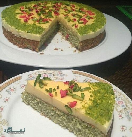 طرز تهیه کیک پسته ساده