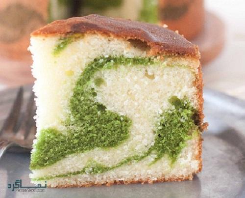 طرز تهیه کیک پسته ساده + تزیین