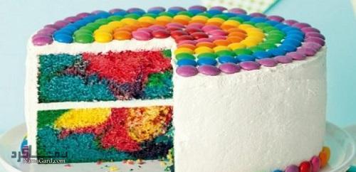 طرز تهیه کیک رنگین کمان خوشمزه