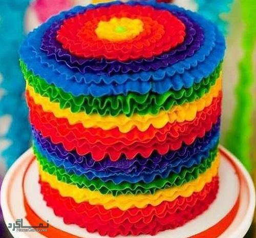 روش پخت کیک رنگین کمان + فیلم آموزشی