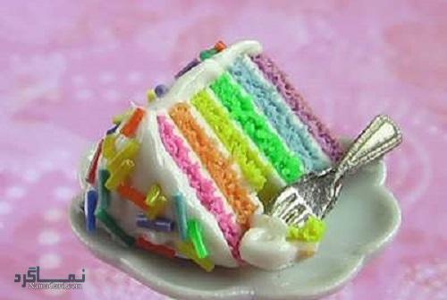 طرز تهیه کیک رنگین کمان خوشمزه + تزیین