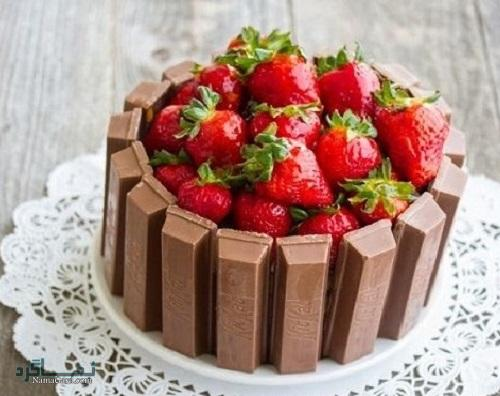 روش پخت کیک توت فرنگی خوشمزه