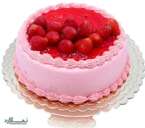 کیک توت فرنگی خوشمزه + فیلم آموزشی