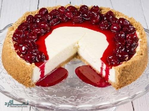 طرز تهیه چیز کیک آلبالو خوشمزه