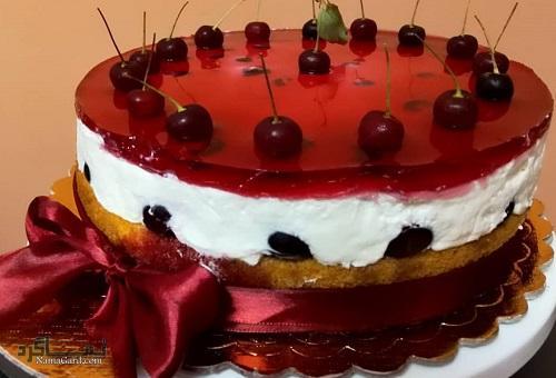 چیز کیک آلبالو | طرز تهیه چیز کیک آلبالو خوشمزه + فیلم آموزشی