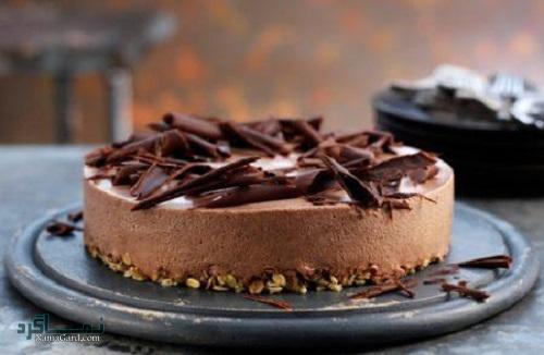 چیز کیک شکلاتی خوش طعم + تزیین