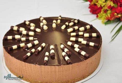 چیز کیک شکلاتی + تزیین
