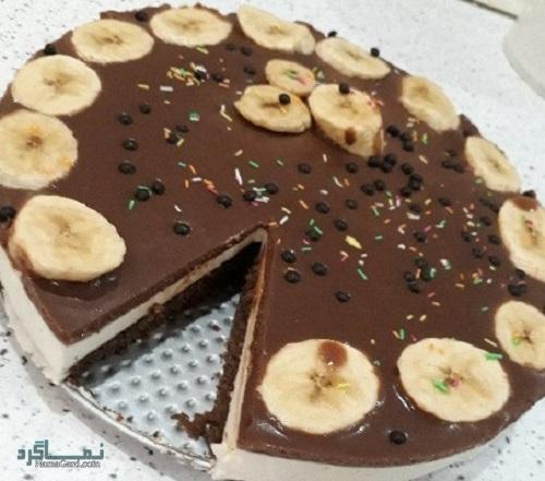 چیز کیک شکلاتی خوشمزه