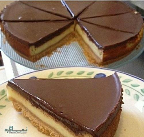 چیز کیک شکلاتی خوش طعم + فیلم آموزشی