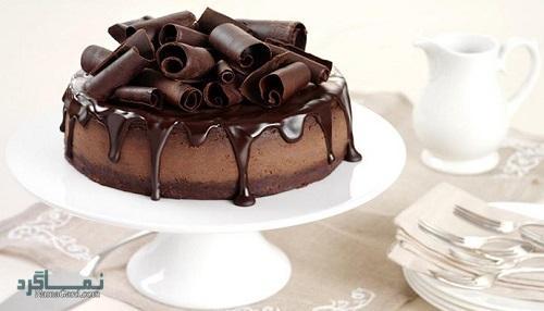چیز کیک شکلاتی | طرز تهیه چیز کیک شکلاتی خوشمزه + فیلم آموزشی