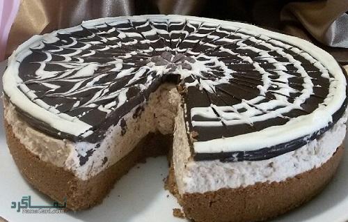 طرز پخت چیزکیک شکلاتی خوش طعم + فیلم آموزشی