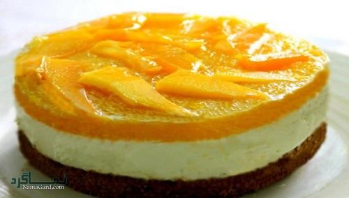 طرز تهیه چیز کیک انبه خوشمزه + تزیین