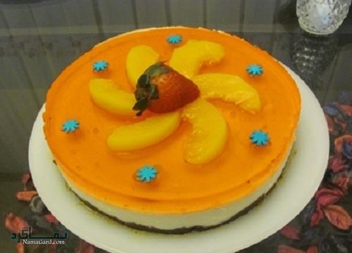 روش پخت چیز کیک هلو خوشمزه