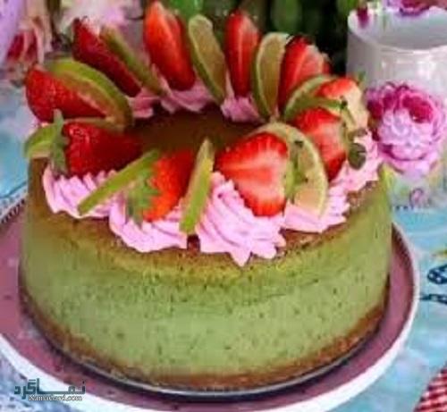 چیز کیک پسته + تزیین