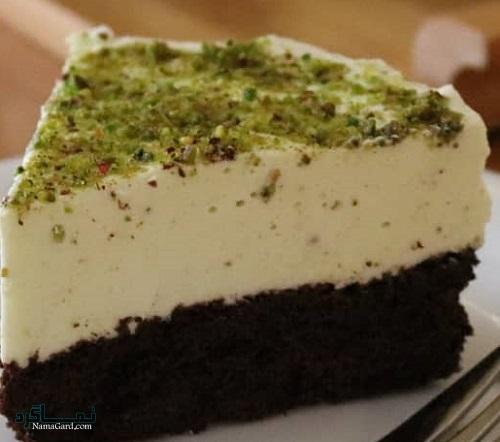 مراحل تهیه چیز کیک پسته لذیذ