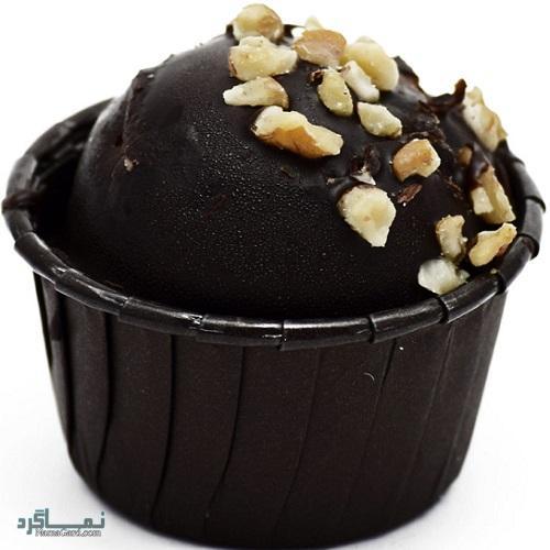 کاپ کیک شکلاتی + تزیین