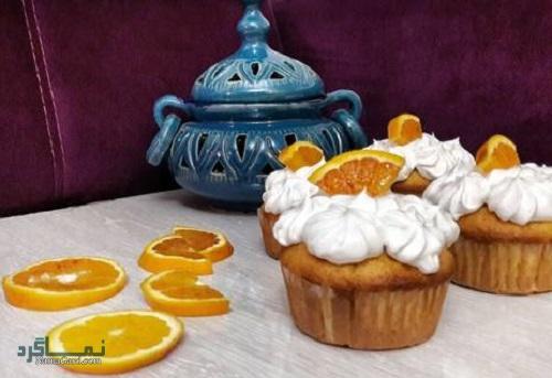 نحوه پخت کاپ کیک پرتقالی مجلسی