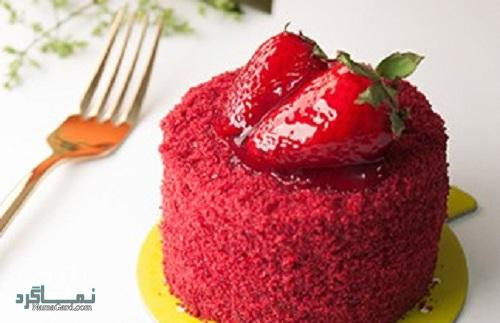 کاپ کیک توت فرنگی شیک + تزیین