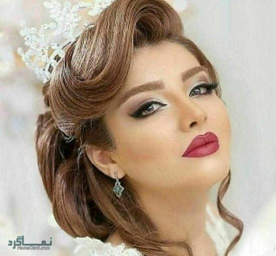 مدل موی عروس برای فرم صورت گرد