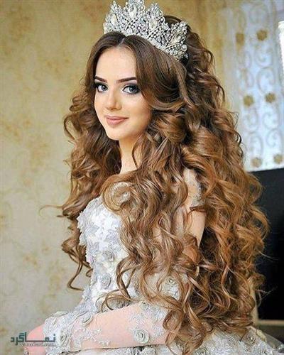 مدل موی باز عروس