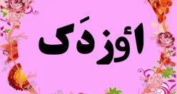 معنی نام اٶزدَک – اسم اٶزدَک – زیباترین نام های ترکی دخترانه