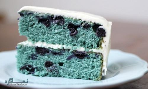 طرز پخت کیک بلوبری خوش طعم + فیلم آموزشی