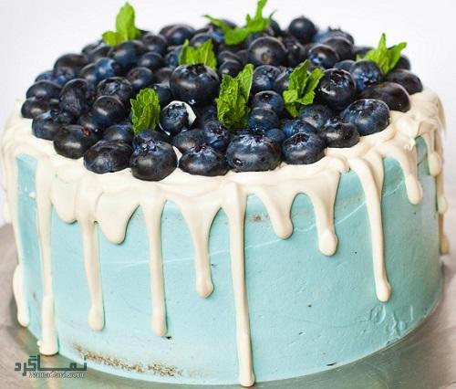 کیک بلوبری خوش طعم