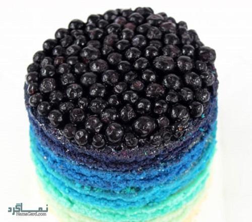 فیلم آموزشی نحوه پخت کیک بلوبری شیک