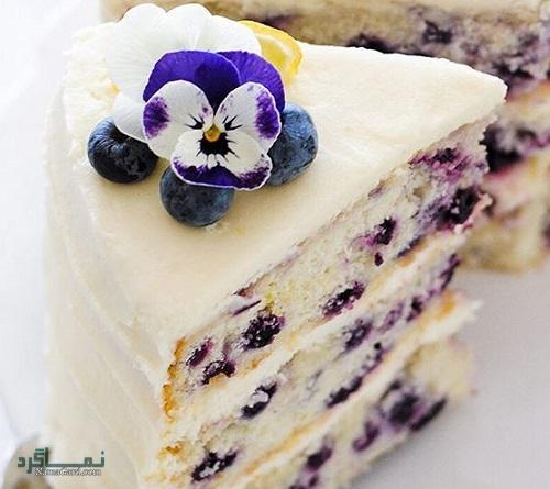 کیک بلوبری شیک