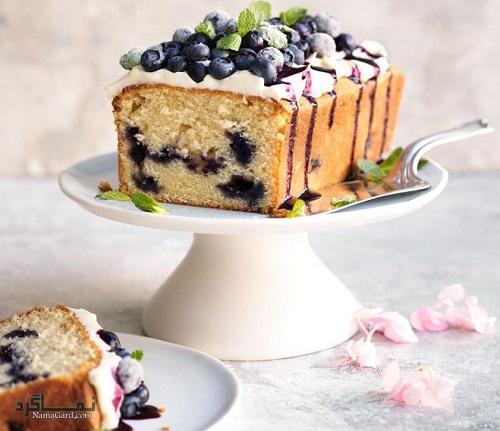 طرز پخت کیک بلوبری خوش طعم