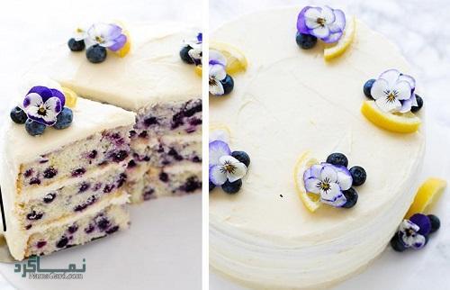 طرز پخت کیک بلوبری خوش طعم + تزیین