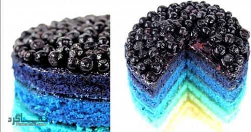 کیک بلوبری