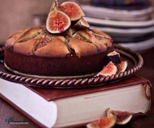 مراحل طرز پخت کیک انجیر