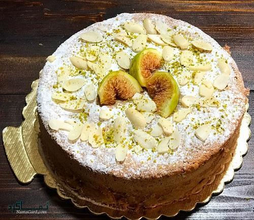طرز تهیه کیک انجیر خوشمزه + تزیین