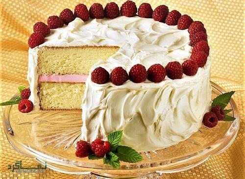کیک تمشک خوشمزه
