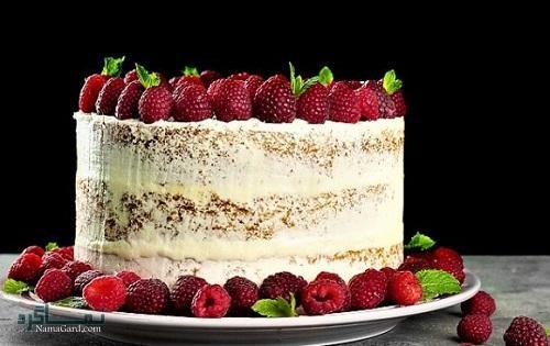 فیلم آموزشی دستور پخت کیک تمشک شیک