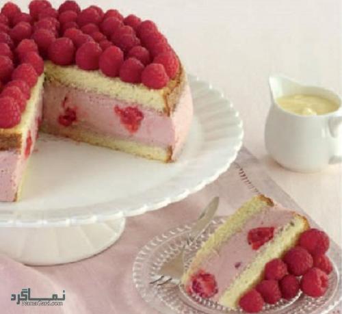 مراحل روش پخت کیک تمشک خوشمزه
