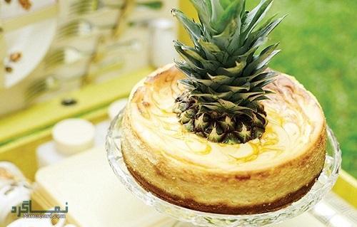 چیزکیک آناناس | طرز تهیه چیزکیک آناناس خوشمزه + فیلم آموزشی