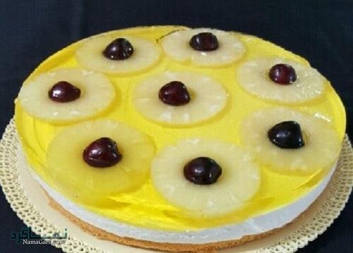 طرز تهیه چیزکیک آناناس خوشمزه + تزیین