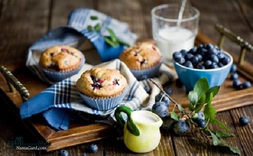 روش پخت کاپ کیک بلوبری خوش طعم + تزیین