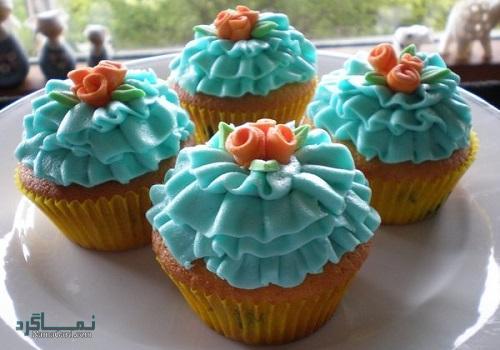 آموزش پخت کاپ کیک بلوبری + تزیین