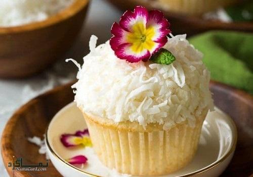 کاپ کیک نارگیلی | طرز تهیه کاپ کیک نارگیلی ساده + فیلم آموزشی