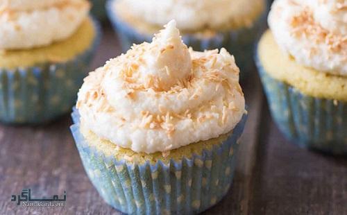 کاپ کیک نارگیلی خوشمزه
