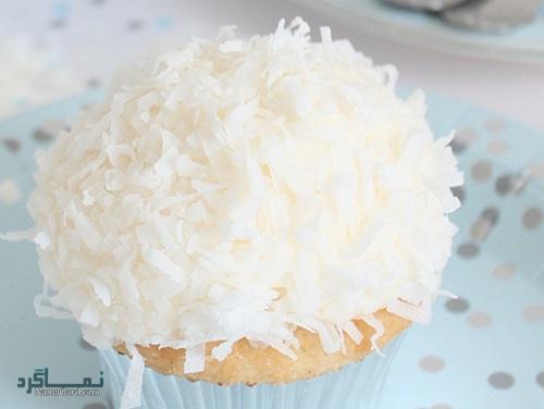 کاپ کیک نارگیلی ساده