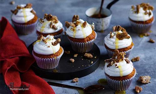 کاپ کیک قهوه خوش عطر + تزیین