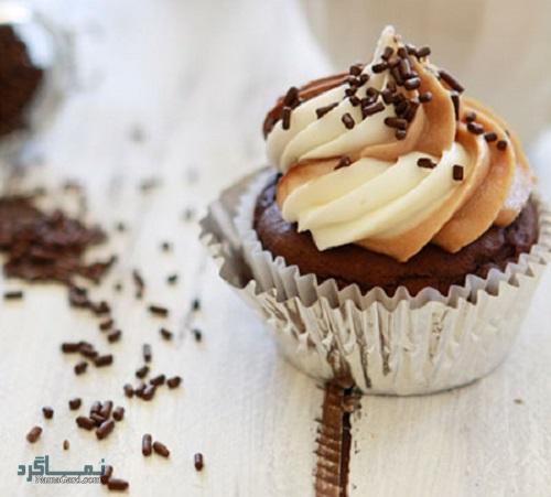 کاپ کیک قهوه خوش عطر